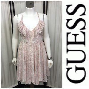 Precious Floral Open Back Dress By Guess